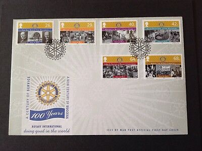 Isle Of Man 2005 First Day Cover Rotary International Centenary