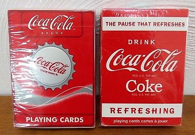 2 Coca Cola Playing Cards - Bicycle & Coca-Cola Brand Deck of Cards, New Sealed