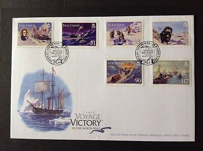 Isle Of Man 2007 First Day Cover Hms Victory Voyage To The North Pole