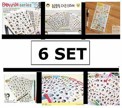 Cute Funny Cartoon Stickers Diary Label Scrapbook Calendar Decoration Korean