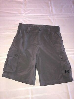 Under Armour Boys Gray Loose Cargo Shorts YLG Youth Large