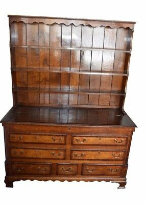 Early 19thc Lancashire Oak Dresser Mule Chest