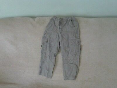 Boys Age 6 Years - Beige Cargo Trousers - Marks & Spencer