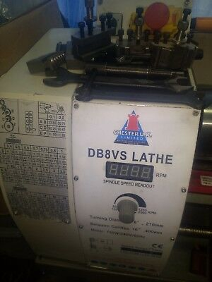 Chester DB8VS Engineering Metal Lathe single phase - always store inside house