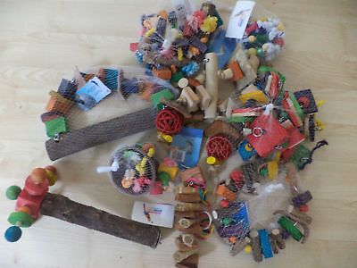 Job Lot 9 Parrot Toys For Parrots And Parakeets African Grey Amazon Cockatoo etc