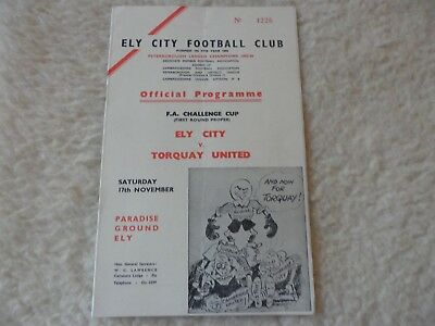 No Year Date Ely City V Torquay United    Fa Cup