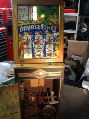 Antique Double shot electro-magnetic hunting shooting arcade game coin operated