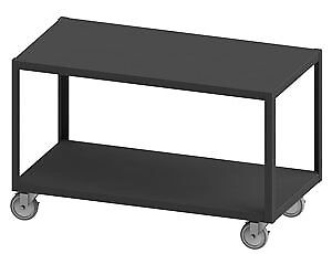 "Durham HMT12G18325PU295, Mobile High Deck Table with 2 Drawers, 18""x32""x31"""