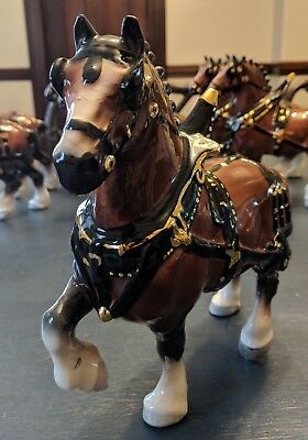 Commissioned by Anheuser Busch Metlox Pottery Clydesdale Draft Horse