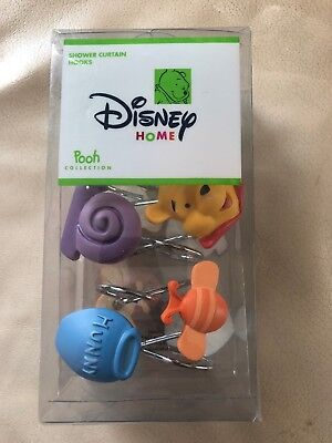WINNIE THE POOH COLLECTION Shower Curtain Hooks  DISNEY HOME Adorable! NEW