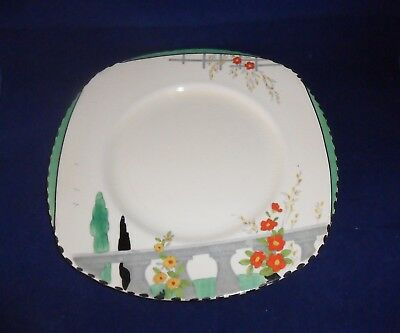 1930s BURLEIGH WARE PLATE RIVIERA PATTERN
