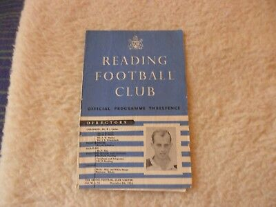 56/57  Reading V Bedford Town Fa Cup