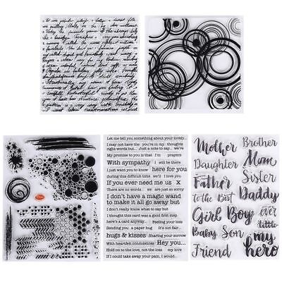 Photo Album Transparent Stamp Silicone Rubber English Words Scrapbooking