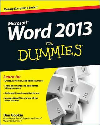 Word 2013 For Dummies-ExLibrary
