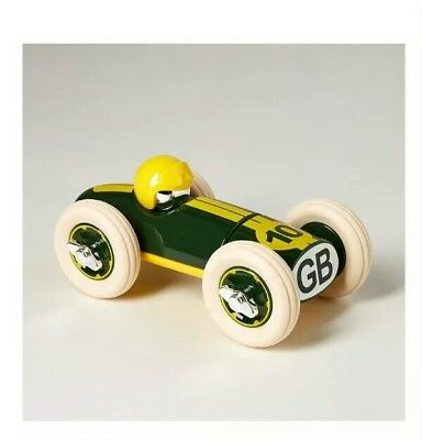 + Playforever Bonnie Wooden racing car green collectable lotus inspired 49'22