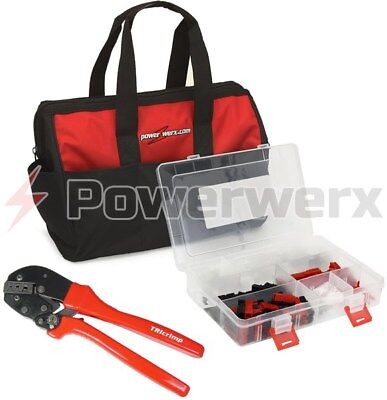 Powerwerx PowerpoleBag Crimping Tool and Assorted Powerpole Case in a Nylon Bag