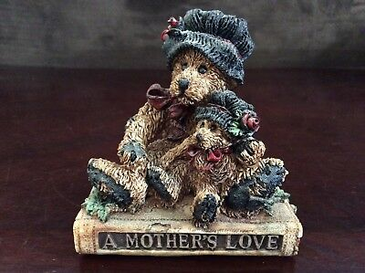 Boyd Bears & Friends The Bearstone Collection A Mother's Love Resin Figurine