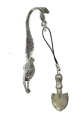 Gardening Trowel FT30 1.4x3.6cm English Pewter On A MERMAID Bookmark