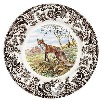 "New Spode Woodland Collection Red Fox 8"" Earthenware Salad Plate 1607279 England"