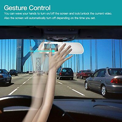 TryAce T9P Dual Dash Cam,FHD 1080P Rearview Mirror Backup Camera 4'' IPS Screen