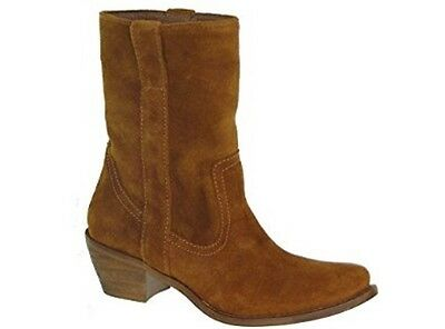 3f354f7bbfe STEVE MADDEN PERAMIS Brown Suede Leather Cowboy Boots Womens Size 7 ...