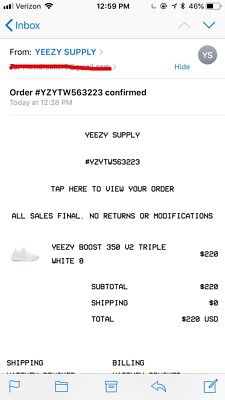 adidas Yeezy Boost 350 V2 Triple White Size 8