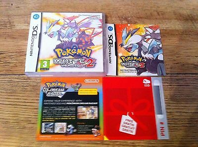 *no Game* Pokemon White Version 2 Case Box & Instructions Only Nintendo Ds