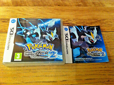 *no Game* Pokemon Black Version 2 Case Box & Instructions Only Nintendo Ds.