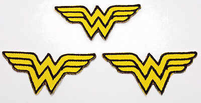 """Wonder Woman Logo 2"""" Mini-Patches - Set of 3 - Mailed from USA (WWPA-MP01)"""