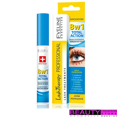EVELINE Total Action 8w1 Skoncentrowane Serum Do Rzes Na wiele Problemow EV014
