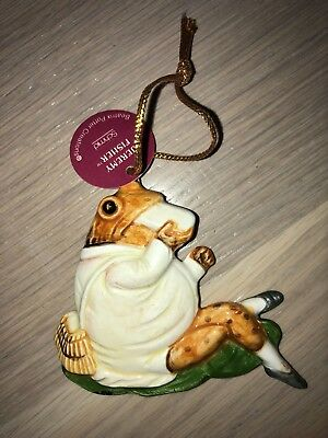 Beatrix Potter Schmid Jeremy Fisher frog 1982 ornament with tags