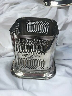 Jack Daniels Old No, 7 Silver Plate Bottle Holder  (4 1/8 Inches High)