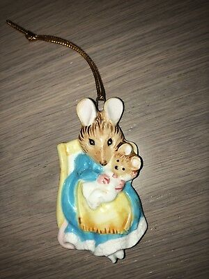 1982 Beatrix Potter Schmid Hunca Munca Mouse Ornament