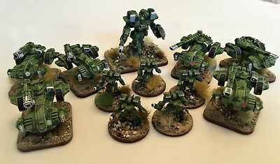 LARGE WARHAMMER GW Epic 40K Space Marine Army Fully Painted