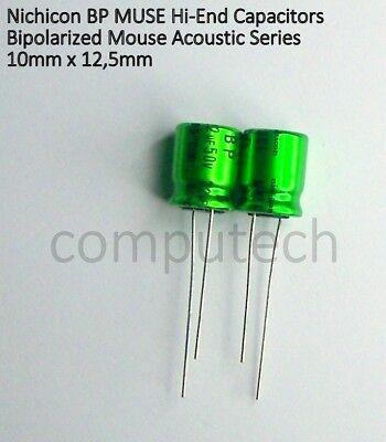 2 pcs Nichicon UES1H220MPM  Elko bipolar MUSE 22uF 50V 10x12,5mm  RM5  85°  NEW