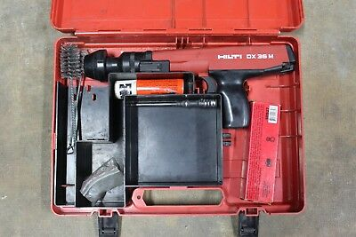 Hilti DX 36M Powder Actuated Tool.27 cal Mag Head, Brush, Clips and Piston
