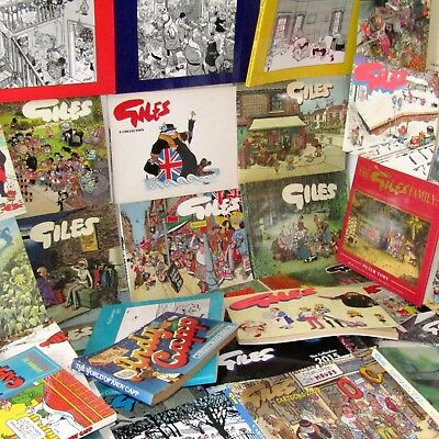 Giles Book Bundle  (Andy Capp  Jak Bill Caldwell) Newspaper Cartoons X 39