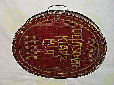 DEUTSCHER KLAPP HUT - alter Chapeau Claque Zylinder , um 1900