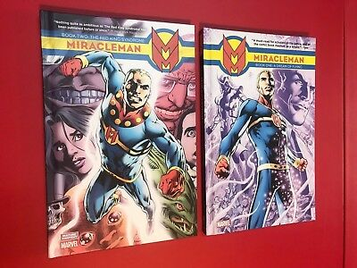 Miracleman Vol 1 Dream of Flying & Vol 2 Red King Syndrome HC Marvel Comics NM