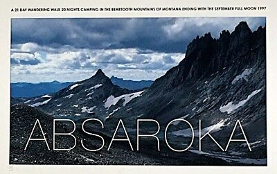 Hamish Fulton: Absaroka 1997/09 color Giclee'  photo print signed and numbered