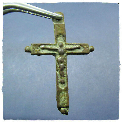 **  Cross **  Ancient Amulet Byzantine Bronze Pendant!!!