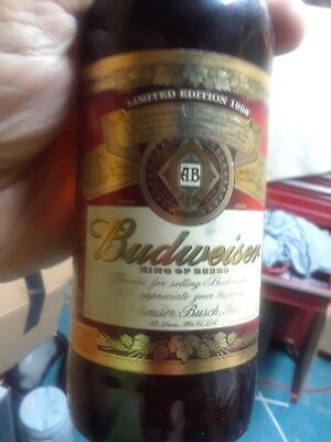 12 oz bottle of budweiser limited edition was given to wholesalers as a gift