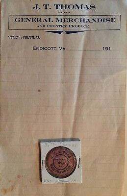 Rare Franklin County, VA Country Store 50¢ Token