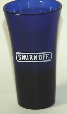 Smirnoff Cobalt Blue Tall Shot Glass with Flared Top - 3.75""