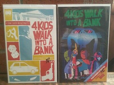 4 Kids Walk Into A Bank #1 & 2 First Prints Autographed Rosenberg free shipping!