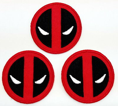 """Deadpool Logo 2"""" Mini-Patches - Set of 3 - Mailed from USA (DPPA-MP01)"""