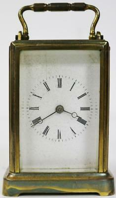 Antique French 8 Day Brass & Glass Gorge Case Carriage Clock Spares or Repair