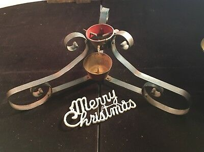 Antique Victorian Farmhouse Christmas Tree Stand Wrought Iron Tree Stand 20.5""