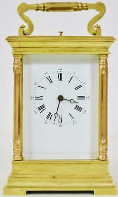 Large Antique French 8 Day Architectural Gong Striking Repeat Carriage Clock