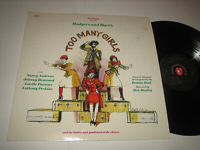 LP Cast: Rodgers & Hart's: Too Many Girls - USA Pained Smile Records PS 1368